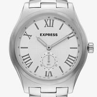 CHRONOGRAPH STAINLESS STEEL WATCH from EXPRESS
