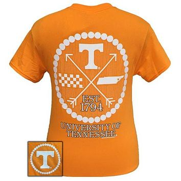 SALE Tennessee Vols Volunteer Preppy Arrow Pearls Girlie Bright T Shirt