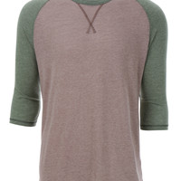LE3NO PREMIUM Mens Vintage Ultra Soft 3/4 Raglan Sleeve Baseball Tee