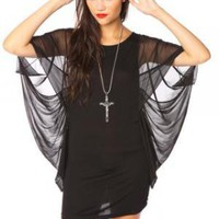 Blackout Batwing Dress | NASTY GAL | Jeffrey Campbell shoes, Evil Twin, MinkPink, BB Dakota, vintage dresses + more!