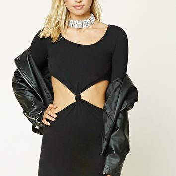 Cutout Bodycon Knotted Dress