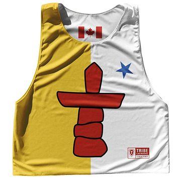 Nunavut Province Flag and Canada Flag Reversible Lacrosse Pinnie