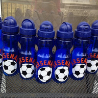 Personalized Kid Soccer Team water bottle party