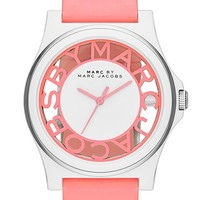 MARC BY MARC JACOBS 'Henry Skeleton' Silicone Strap Watch, 41mm