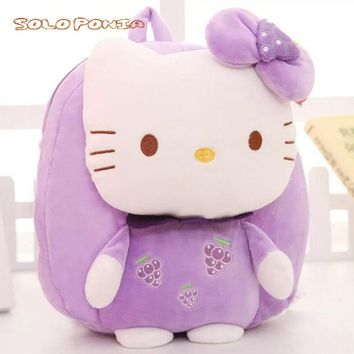 3D Bags for Girls plush backpack kids hello kitty Cartoon School Bags for student School knapsack Baby bags mochilas escolares