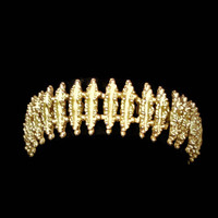 Avon Starflower Link Bracelet In Gold Tone