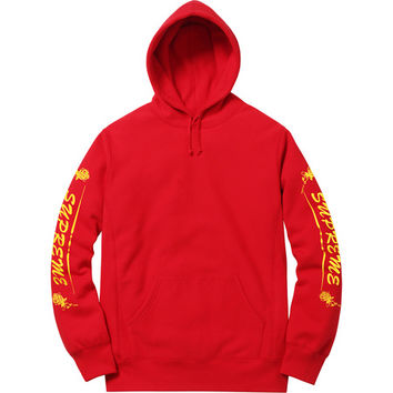 Supreme: Rose Hooded Sweatshirt - Red