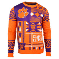 """Clemson Tigers Official Men's NCAA """"Ugly Sweater"""" by Klew"""
