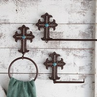 Western Cross Toilet Paper Holder - Bath Hardware - Bath - Home