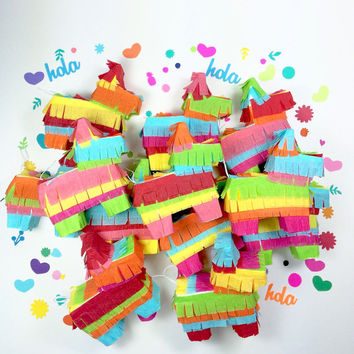 Mini Piñatas, Fiesta Weddings, Mexican Party Favors, Cinco de Mayo, Bridesmaid Proposal, Fiesta Decorations - SET of 6