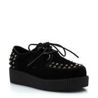 spiked-faux-suede-creepers BLACK COBALT OXBLOOD - GoJane.com