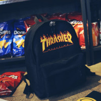 """""""Thrasher"""" College Stylish Hot Deal Casual Back To School Comfort Canvas Backpack"""