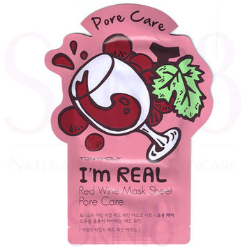 TonyMoly I'm Real Face Mask Sheet - Red Wine