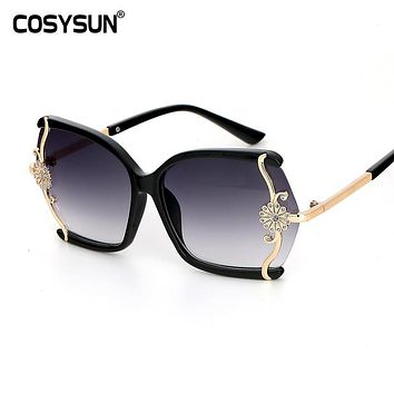 2016 New Luxury  With Box High Quality Sunglasses Women Brand Designer Design Ladies Fashion Coating Sun Glasses Oculos De Sol