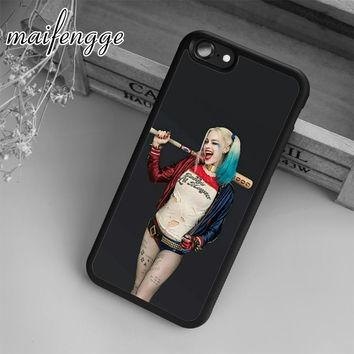maifengge Harley Quinn Suicide Squad Joker Wink  Case For iPhone 6 6S 7 8 Plus X 5 5S SE Case cover for Samsung S5 S6 S7 edge S8