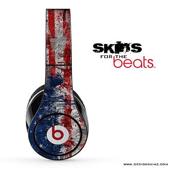 Grunge American Flag Skin for the Beats by Dre