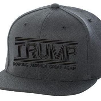 Make America Great Again- Donald Trump Hat 2020-US NEW ERA Snapback Charcoal Cap