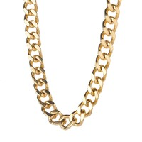 11mm Men's Stainless Steel Gold Miami Cuban Curb Chain Necklace