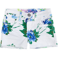 HIPPY LAUNDRY Tropical Girls Denim Cutoff Shorts