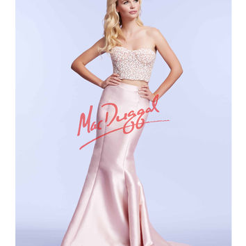 Mac Duggal 61875M Blush Pink Strapless Two Piece Mermaid Dress 2015 Prom Dresses
