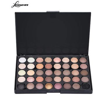LEARNEVER 40 Color Cheap Eyeshadow Pallete Waterproof Eye Shadow Cosmetics Paleta De Sombra Professional Matte Eyeshadow Pallete