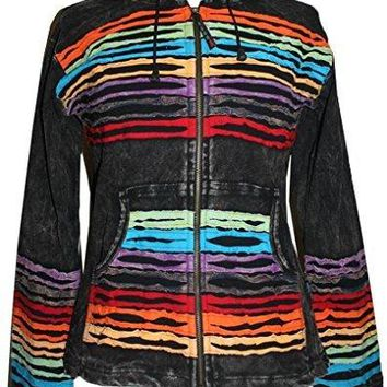 RJ 340 Agan Traders Hand Crafted Funky Cotton Bohemian Hoodie Jacket