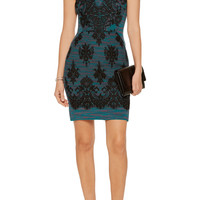 Lace-appliqu&eacuted jacquard-knit wool mini dress | M Missoni | US | THE OUTNET