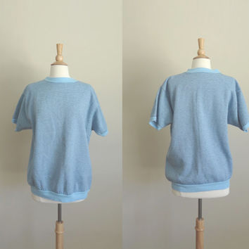 1960s Blue Striped Sweater Towncraft  by Penny's // Large // AS IS