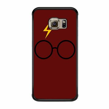 Harry Potter Glasses And Lightning Bolt Samsung Galaxy S6 Edge Case