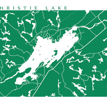 Christie Lake Map - Ontario Print