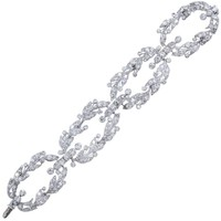 Cartier Paris Diamond Platinum Garland Bracelet