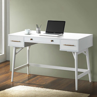 Impressions Vanity | Modern White Tufted Vanity Bench with Storage
