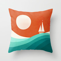 Wave (night) Throw Pillow by Jay Fleck