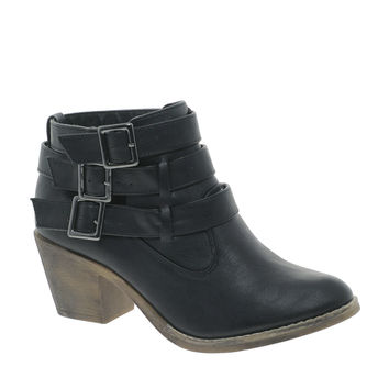 London Rebel Buckle Detail Boot