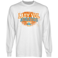 Tennessee Lady Vols White Halftone Long Sleeve T-shirt