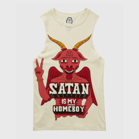 Satan Is My Homeboy Sleeveless T-shirt