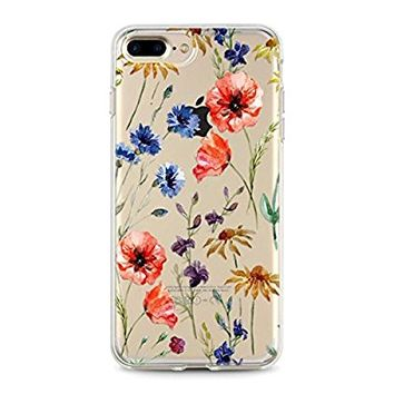 NEW! Iphone 7 Plus Cases for girls, Flexible Soft TPU cover (Spring Breeze)