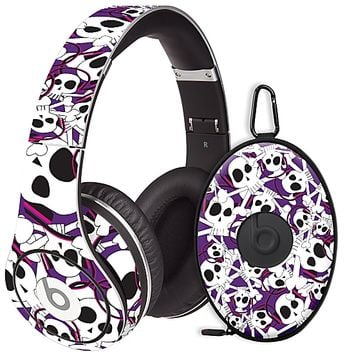 Skull Prince with Beats on Purple Skin for the Beats Studio Headphones & Case by skinzy.com