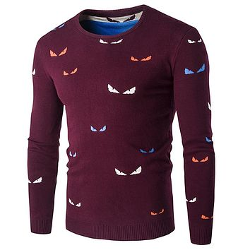 Printed Pullover Sweater Men Spring Casual Fashion Men Sweaters Male Pullovers Cashmere Sweaters