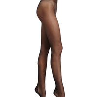 Wolford Paris Sheer Tights with Crystal Back, Black/Gold