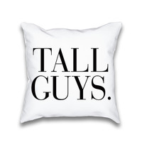 Tall Guys Vogue Typography Throw Pillow