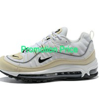 Factory Authentic Men Nike Air Max OG 98 Gundam Fossil White Yellow Black AH6799-102 shoe