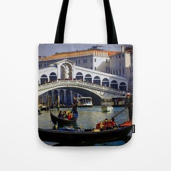 Venice Italy Tote Bag by Theresa Campbell D'August Art