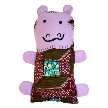 Handmade Little Friends Hippo Stuffed Animal Plush Toy