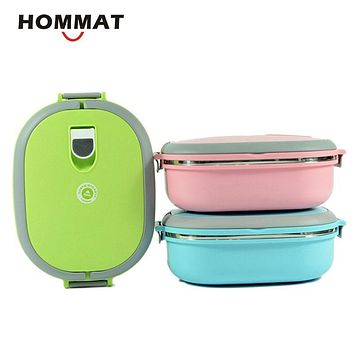Stainless Steel Metal Bento Lunch Boxs for Kids Girls Thermal Food Container Lunchbox w/ Handle for Carrying Portable School
