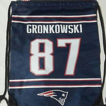 Rob Gronkowski #87 New England Patriots Jersey Back Pack/Sack Drawstring gym Bag
