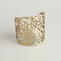 Gold Leaf Cuff Bracelet | World Market