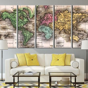 Different Colorful Countries World Map Art Print, Colorful Countries
