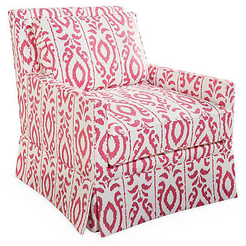 Lilla Swivel Glider Chair, Pink - Furniture - Sale by Category - Sale | One Kings Lane