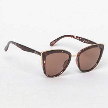 Quay My Girl Cat-Eye Brown Sunglasses at PacSun.com